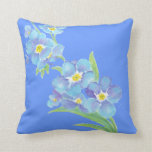 Forget me not, Watercolor Flower Garden Throw Pillows