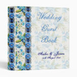 Forget Me Not Wedding Guest Book 3 Ring Binders