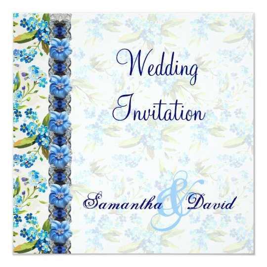 Forget Me Not Wedding Invitations: Forget Me Not Wedding Invitation Card