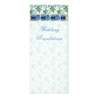 Forget Me Not Wedding  Invitation Card
