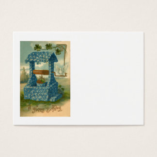 Forget Me Not Wishing Well Clover Business Card
