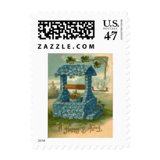 Forget Me Not Wishing Well Clover Postage