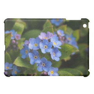 forget-me-not with dew macro iPad mini case