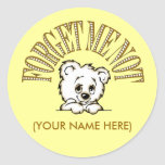 Forget me not, (YOUR NAME HERE) Round Sticker
