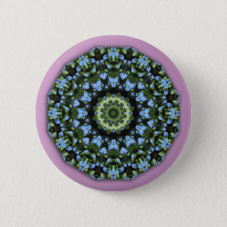 Forget-me-nots 001 01, Forgetmenot, Nature Flower Pinback Button