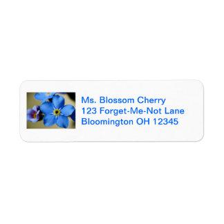 Forget-Me-Nots 11 Address Label