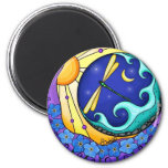 Forget Me Nots 2 Inch Round Magnet