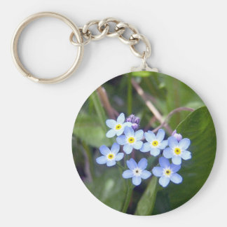 Forget Me Nots 2 Key Chain