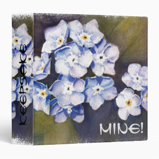 FORGET ME NOTS 3 RING BINDER