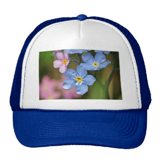 Forget-Me-Nots and Raindrops Macro Hat