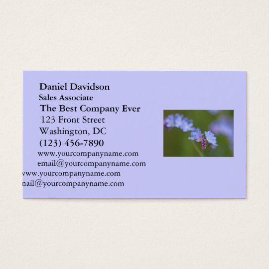 Forget Me Nots Business Card