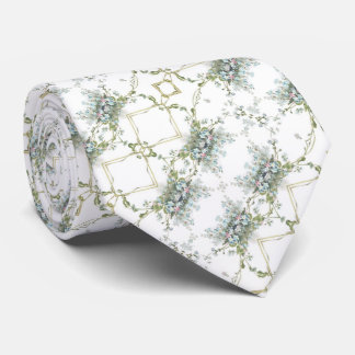 Forget me nots diagonal pattern tie