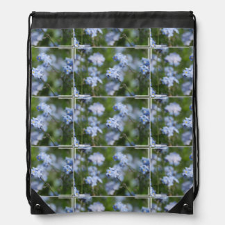 Forget Me Nots Drawstring Backpack