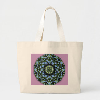 Forget-me-nots, Floral mandala-style Jumbo Tote Bag