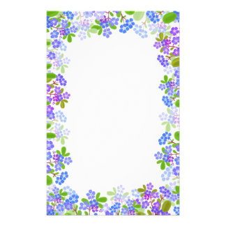 Forget Me Nots Floral Stationery