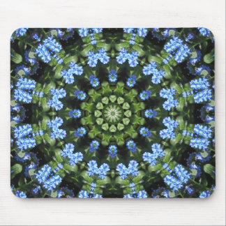 Forget-me-nots, Flower Mandala Mouse Pad
