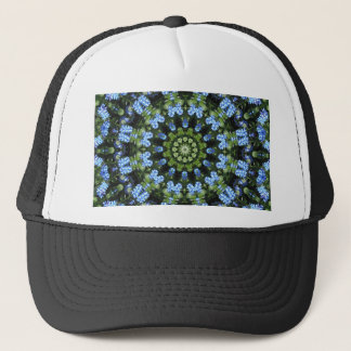 Forget-me-nots, Flower Mandala Trucker Hat