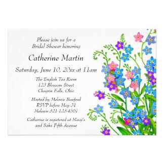 Forget Me Nots Garden Bridal Shower Invites