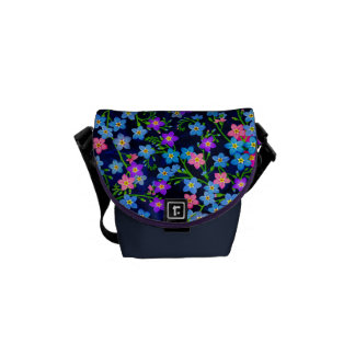 Forget Me Nots Garden Floral Mini Messenger Bag