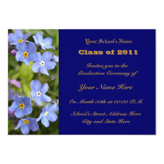 Forget-me-nots Graduation Card