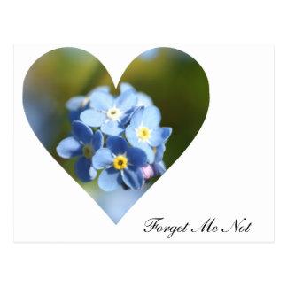Forget Me Nots Heart Postcard