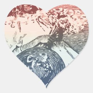 forget me Nots Heart Sticker