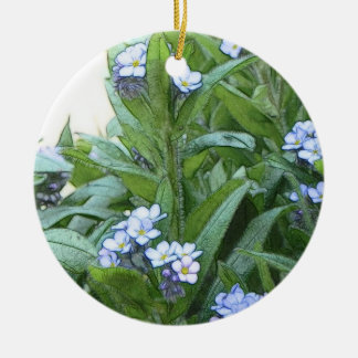 Forget Me Nots In The Garden Christmas Ornament