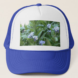 Forget Me Nots In The Garden Trucker Hat