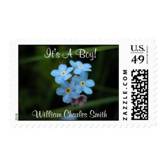 Forget Me Nots It's A Boy! Medium Postage Stamps