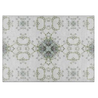 Forget me nots kaleidoscope pattern cutting boards