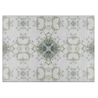 Forget me nots kaleidoscope pattern cutting boards