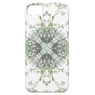 Forget me nots kaleidoscope pattern iPhone SE/5/5s case