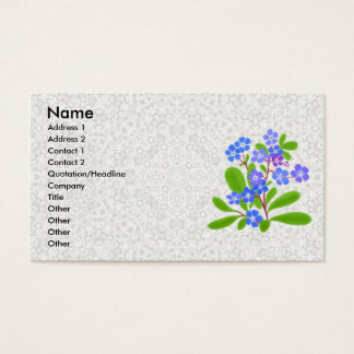 Forget-Me-Nots & Lace Profile Card