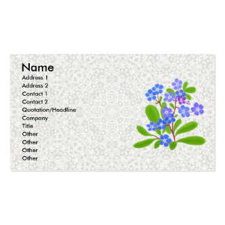 Forget-Me-Nots & Lace Profile Card Double-Sided Standard Business Cards (Pack Of 100)