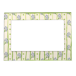 Forget-Me-Nots Photo Frame Magnets
