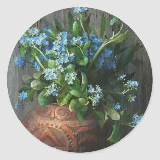 Forget-Me-Nots - 	Marie Nyl-Frosch Classic Round Sticker