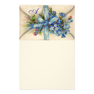 FORGET ME NOTS MONOGRAM STATIONERY