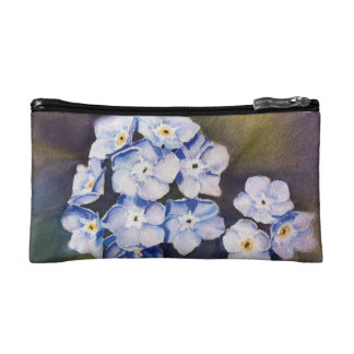 FORGET-ME-NOTS MONOGRAMED COSMETIC/CLUTCH BAG