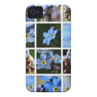 Forget-Me-Nots Montage 1 iPhone 4 Case