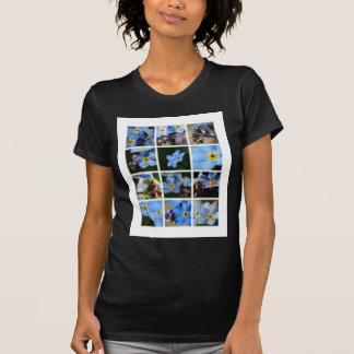 Forget-Me-Nots Montage 1 Ladies Petite Shirt