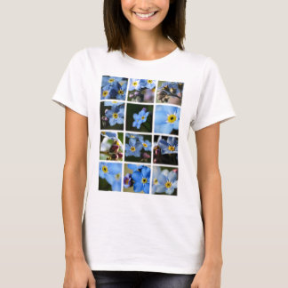 Forget-Me-Nots Montage 1 Ladies Shirt