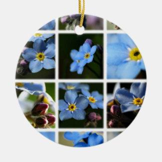 Forget-Me-Nots Montage 1 Ornament