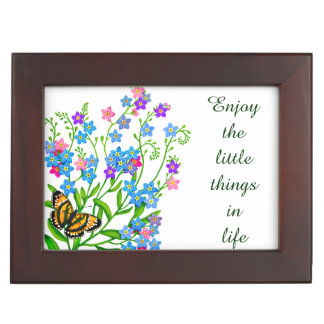 Forget Me Nots Motivational Keepsake Box