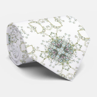 Forget me nots pattern neck tie