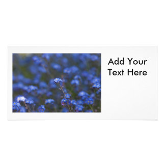 Forget-Me-Nots Custom Photo Card