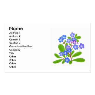 Forget Me Nots Profile Card Double-Sided Standard Business Cards (Pack Of 100)