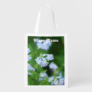 Forget Me Nots Reusable Grocery Bag