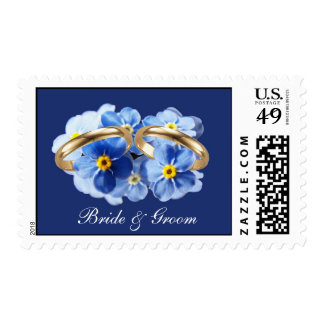 Forget Me Nots, Stamps, personalized Postage