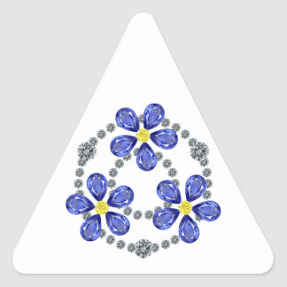 Forget Me Nots Triangle Sticker