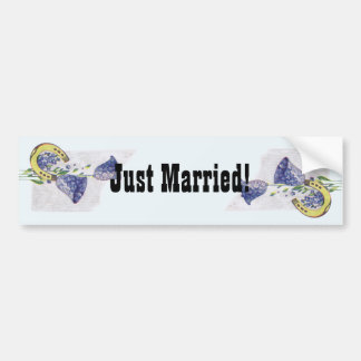 Forget Me Nots Wedding Car Bumper Sticker